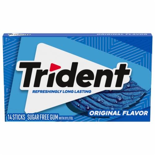 Trident Original Flavor Sugar Free Gum Perspective: front
