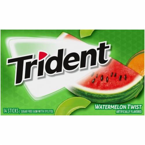 Trident Watermelon Twist Sugar Free Gum Perspective: front