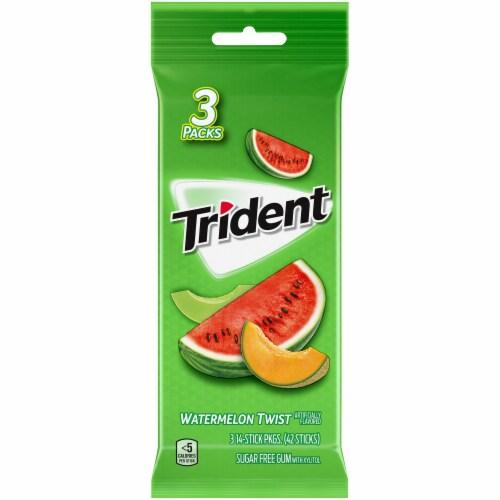 Trident Watermelon Twist Gum Perspective: front