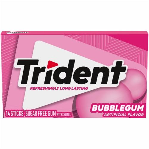 Trident Bubblegum Sugar Free Gum Perspective: front