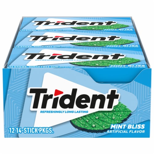 Trident Sugar Free Mint Bliss Gum Perspective: front