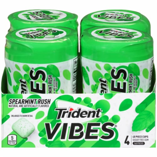 Trident Vibes Spearmint Rush Gum Perspective: front