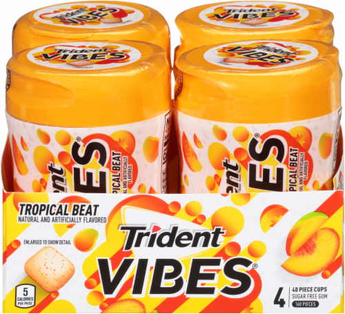 Trident Vibes Tropical Beat Gum Perspective: front