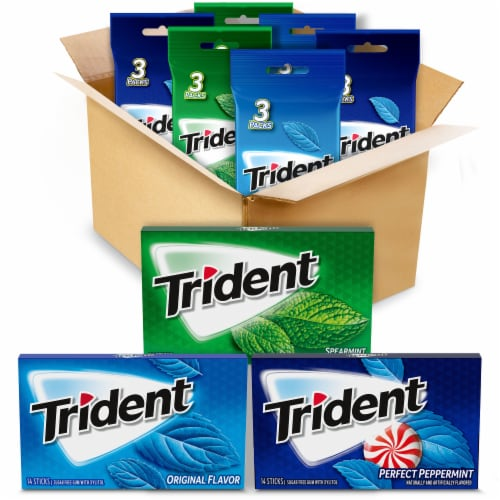 Trident Mint Gum Variety Pack Perspective: front