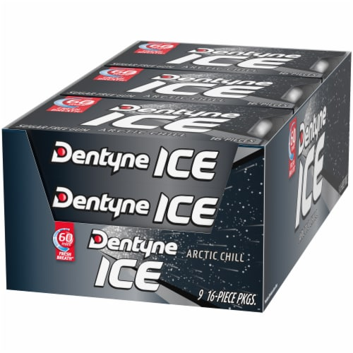 Dentyne Ice Arctic Chill Sugar Free Gum Perspective: front