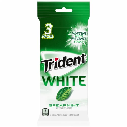 Trident White Spearmint Gum Perspective: front