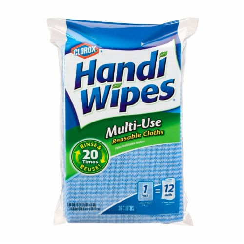 Clorox Handi Wipes Multi-Use Reusable Cloths Perspective: front