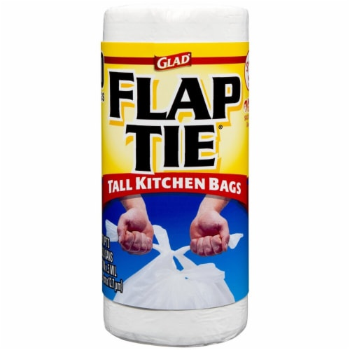 Glad  Tall Kitchen Bags With Flap Tie Perspective: front