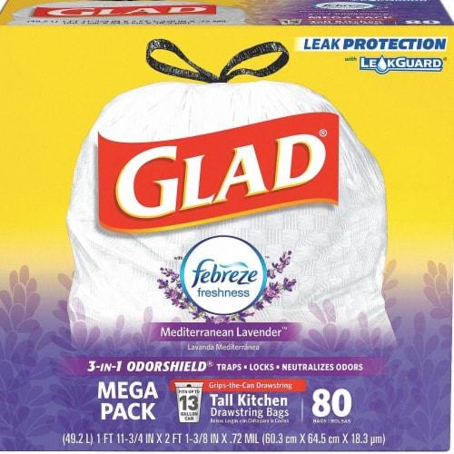 Glad Trash Bags,13 gal.,Polypropylene  78902 Perspective: front