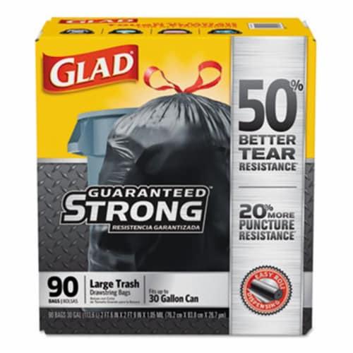 CLOROX SALES CO. CLO78952 Drawstring Large Trash Bags, Black Perspective: front