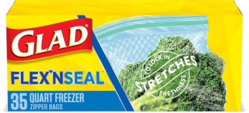 Glad® Flex'nseal Quart Freezer Storage Bags Perspective: front
