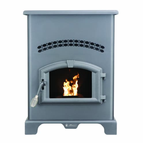 US Stove Ashley EPA Certified 2200 sq. ft. Wood Pellet Stove 130 lb. capacity Hopper - Case Perspective: front