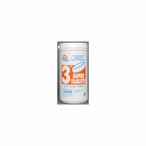 Baleco B000096-PL25 24.5 in. No. 3 Chlorine Tablets Perspective: front