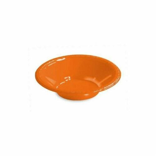 Amscan 43034.05 12 oz. Orange Peel Plastic Bowl - Pack of 200 Perspective: front