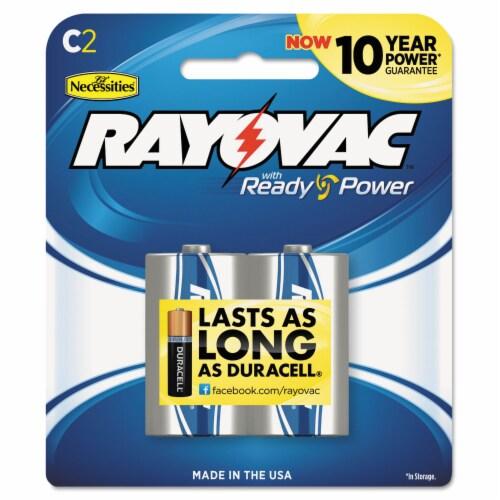 High Energy Premium Alkaline C Batteries, 2/Pack 8142K Perspective: front