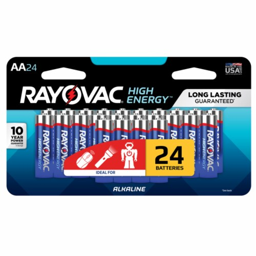 Rayovac High Energy AA Alkaline Batteries Perspective: front