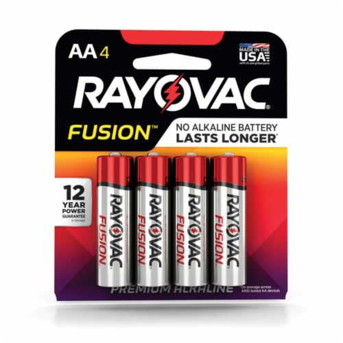 Rayovac® Fusion™ AA Alkaline Batteries Perspective: front