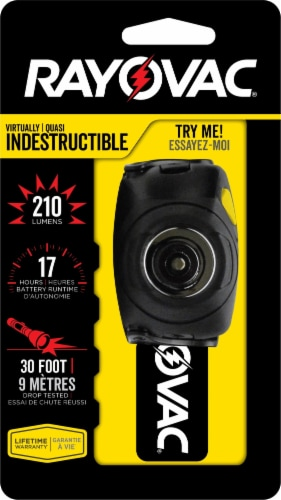Rayovac Indestructable Head Light - Black Perspective: front