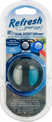 Refresh Your Car!® New Car and Cool Breeze Dual-Scented Oil Diffuser Perspective: front