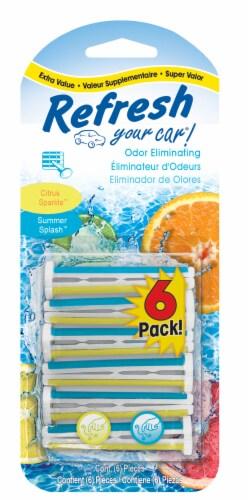 Refresh Your Car!® Citrus Sparkle & Summer Splash Odor Eliminating Vent Sticks Perspective: front