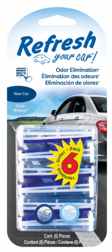 Refresh Your Car!® New Car & Cool Breeze Odor Eliminating Vent Sticks Perspective: front