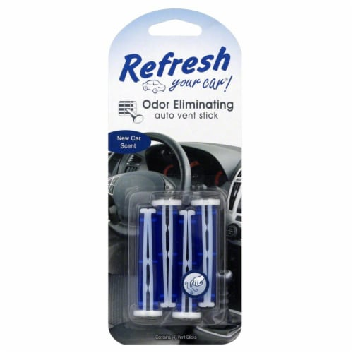 Refresh Your Car!® New Car Scent Odor Eliminating Auto Vent Stick Perspective: front