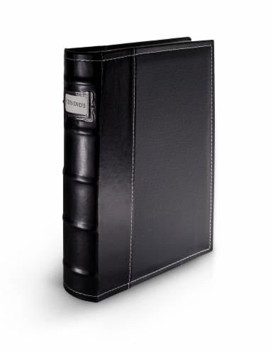 Bellagio-Italia Classic DVD Storage Binder - Black Perspective: front