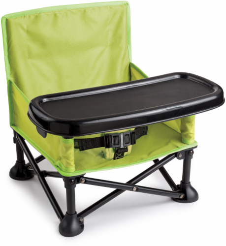 Pop 'N Sit® Portable Booster Seat - Green/Black Perspective: front
