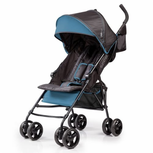 Summer Infant 3Dmini Convenience Lightweight Foldable Travel Baby Stroller, Blue Perspective: front