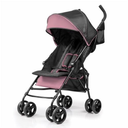 Summer Infant 3Dmini Lightweight Folding Convenience Toddler Baby Stroller, Pink Perspective: front