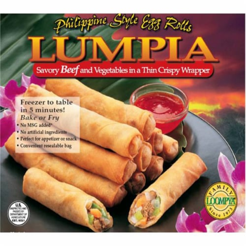 Family Loompya Lumpia Savory Beef and Vegetables Perspective: front