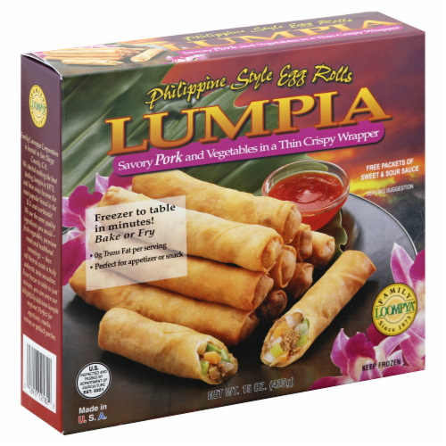 Family Loompya Pork Lumpia Perspective: front
