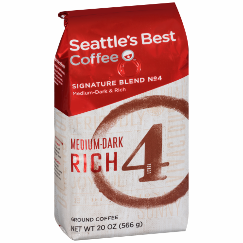 Seattle's Best Level 4 Medium-Dark & Rich Ground Coffee Perspective: front