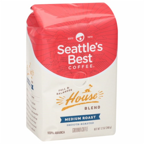 Seattle's Best House Blend Medium Roast Ground Coffee Perspective: front