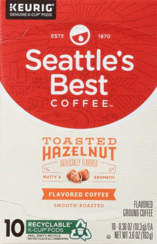 Seattle's Best Toasted Hazelnut Coffee K-Cup Pods Perspective: front
