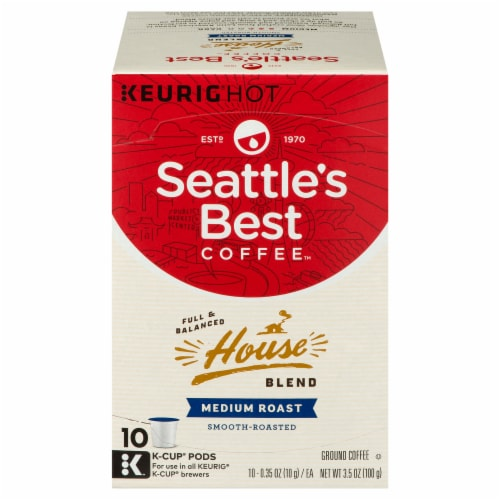 Seattle's Best House Blend Medium Roast Coffee K-Cup Pods Perspective: front