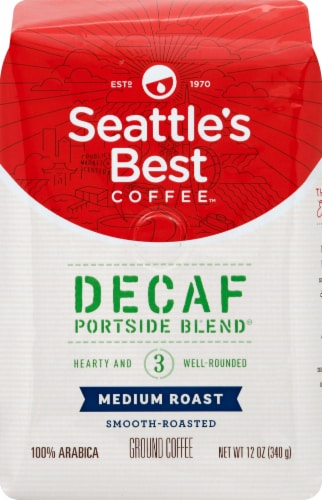 Seattle's Best Coffee Medium Roast Portside Blen Decaf Ground Coffee Perspective: front