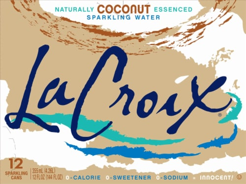 LaCroix Coconut Sparkling Water Perspective: front