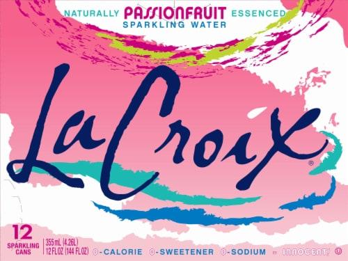 LaCroix Passionfruit Sparkling Water Perspective: front