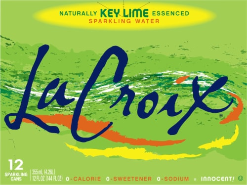 LaCroix Key Lime Sparkling Water Perspective: front