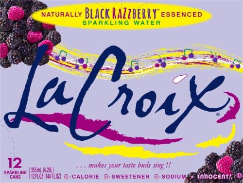 LaCroix Black Razzberry Sparkling Water Perspective: front