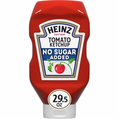 Heinz No Sugar Added Tomato Ketchup Perspective: front