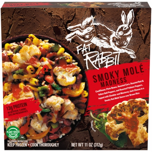 Fat Rabbit Smoky Mole Madness Frozen Meal Perspective: front