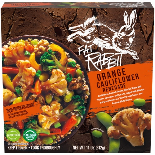 Fat Rabbit Orange Cauliflower Renegade Frozen Meal Perspective: front