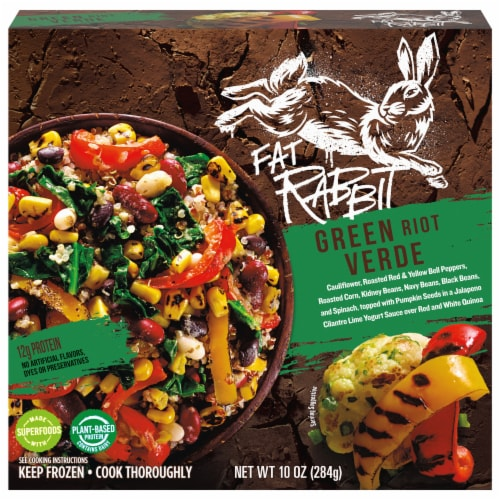 Fat Rabbit Green Riot Verde Frozen Meal Perspective: front