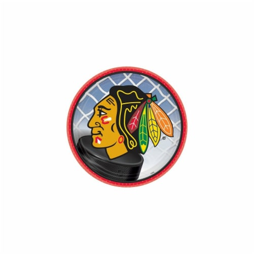 """7"""" Round Chicago Blackhawks Plate Perspective: front"""
