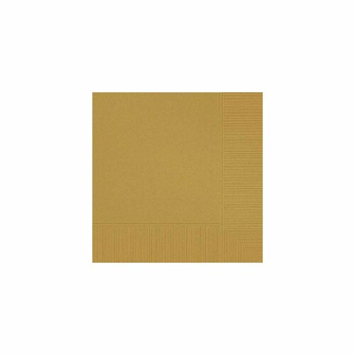 Amscan 52215.19 2-Ply Dinner Napkin Gold - Pack of 240 Perspective: front