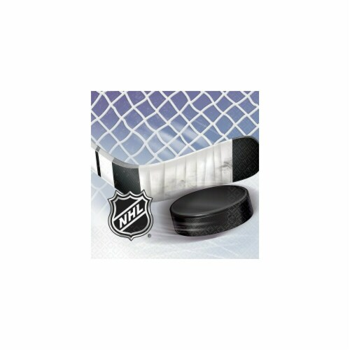 Amscan 513834 NHL Ice Time Lunch Napkins - Pack of 96 Perspective: front