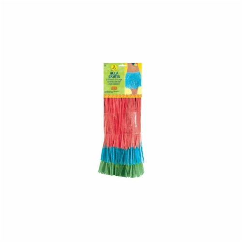 Amscan 340011 Child Hula Skirts - Pack of 18 Perspective: front