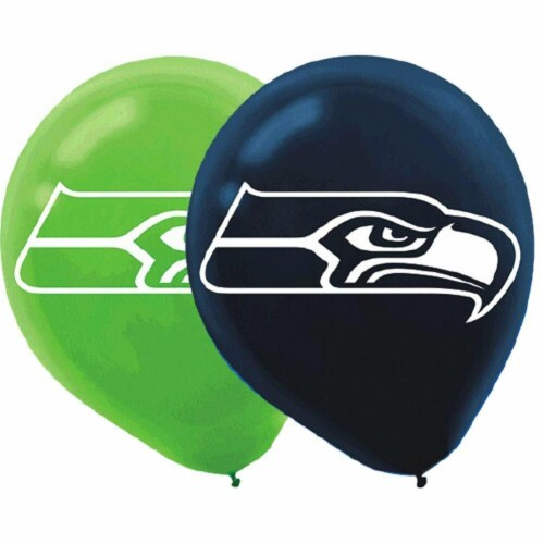 NFL Seattle Seahawks Printed Latex Balloons [6 in pack] Perspective: front